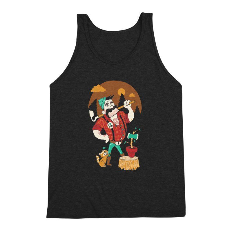 Green Thumberjack Men's Triblend Tank by Brian Cook