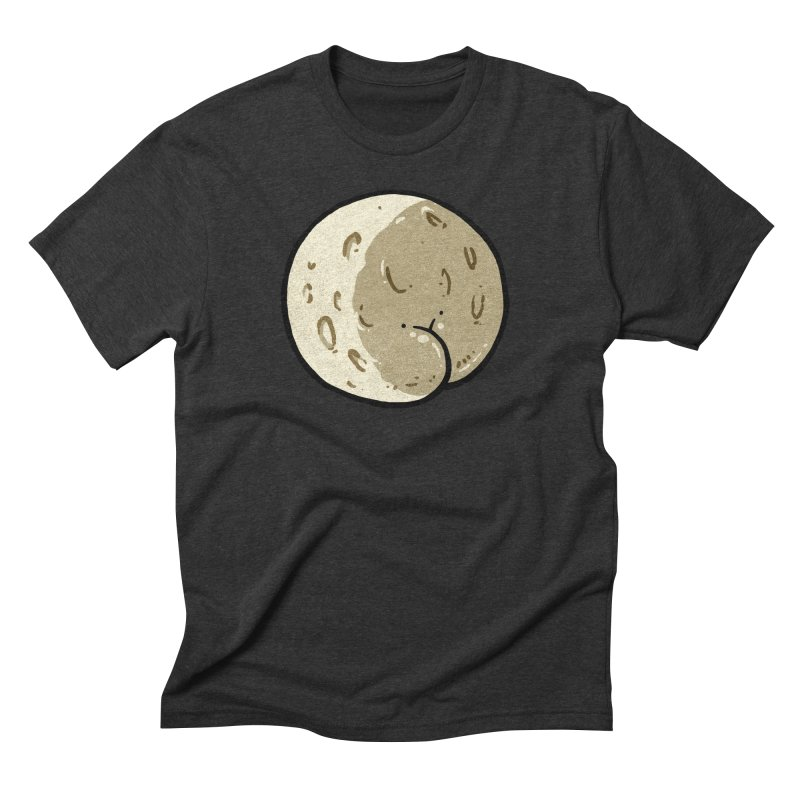Moon Butt in Men's Triblend T-Shirt Heather Onyx by Brian Cook