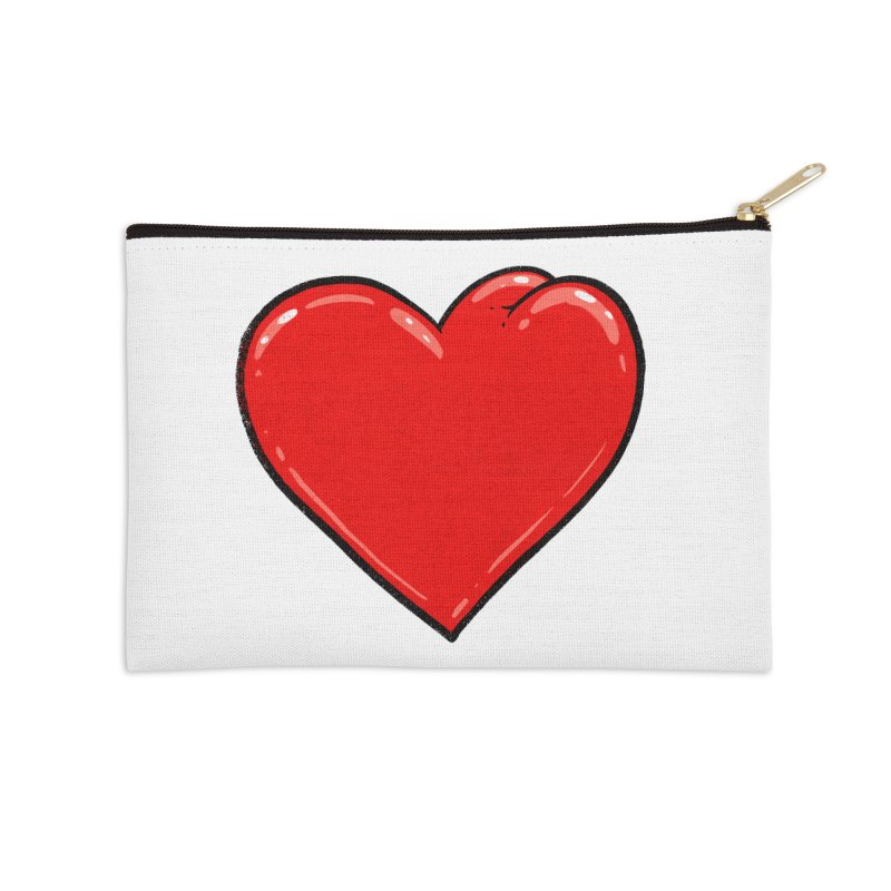 Heart Butt Accessories Zip Pouch by Brian Cook