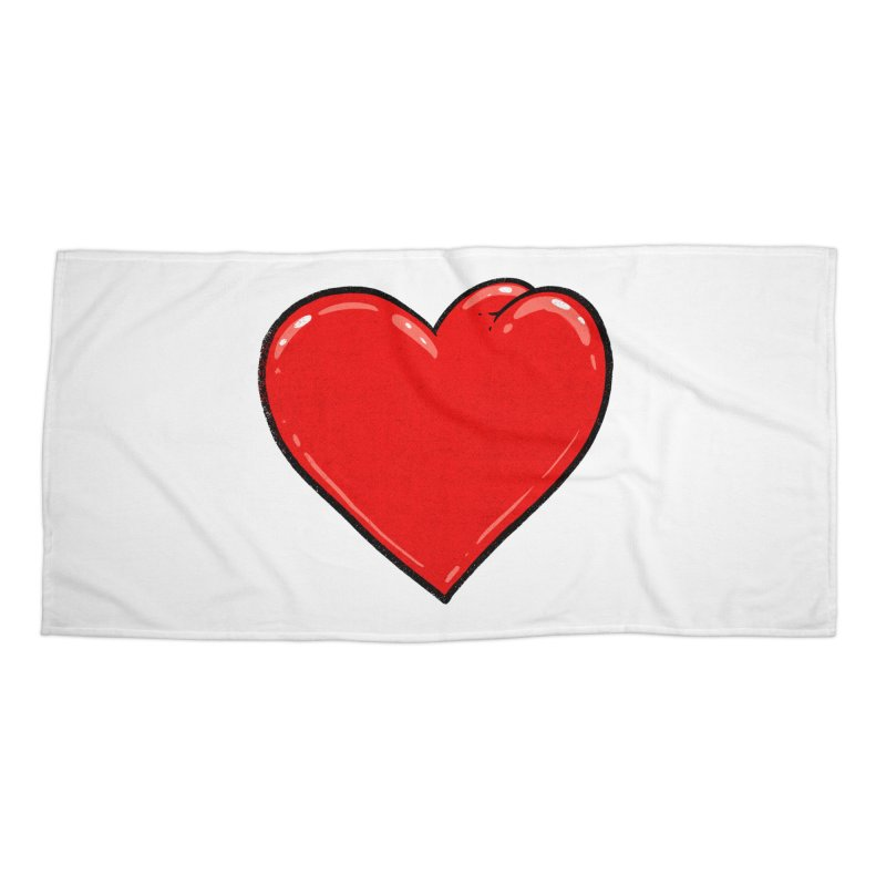 Heart Butt Accessories Beach Towel by Brian Cook