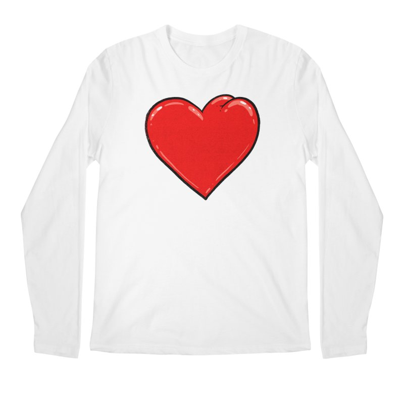 Heart Butt Men's Longsleeve T-Shirt by Brian Cook