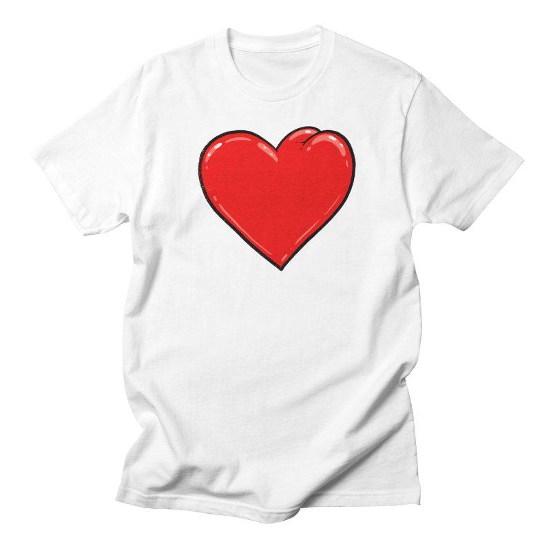 Heart Butt Women's Unisex T-Shirt by Brian Cook