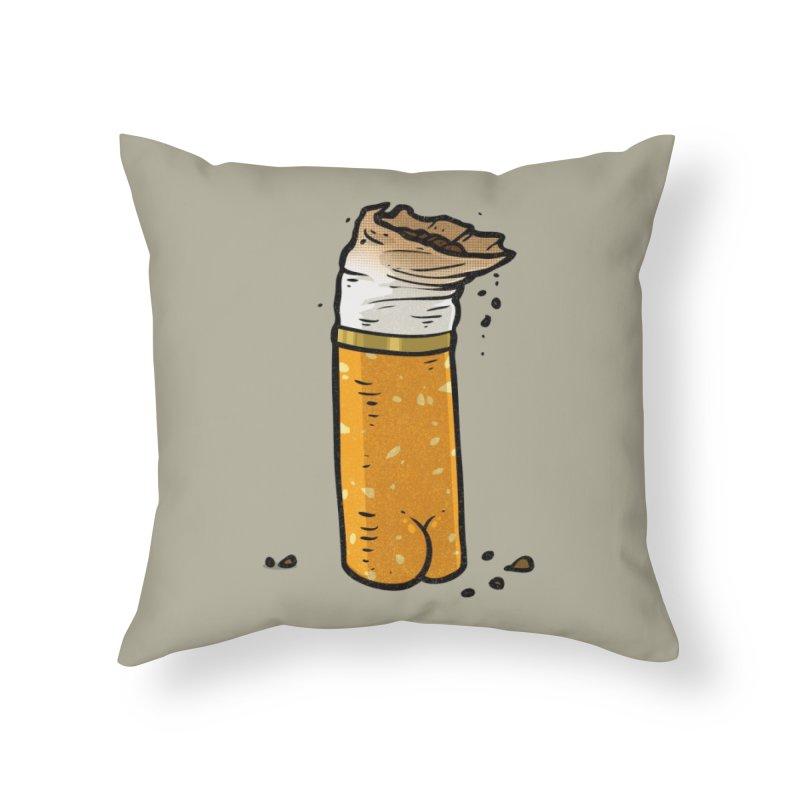 Cigarette Butt Butt Home Throw Pillow by Brian Cook