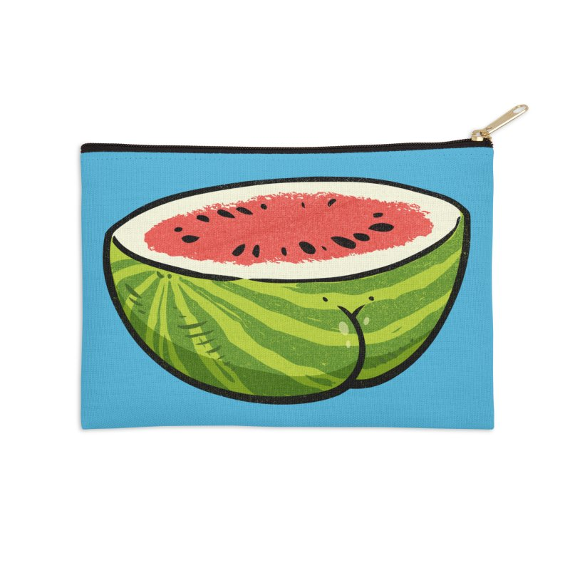 Watermelon Butt Accessories Zip Pouch by Brian Cook