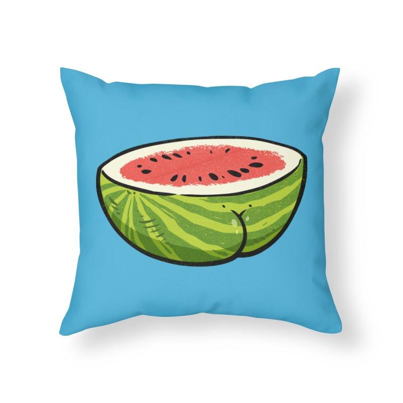 Watermelon Butt Home Throw Pillow by Brian Cook