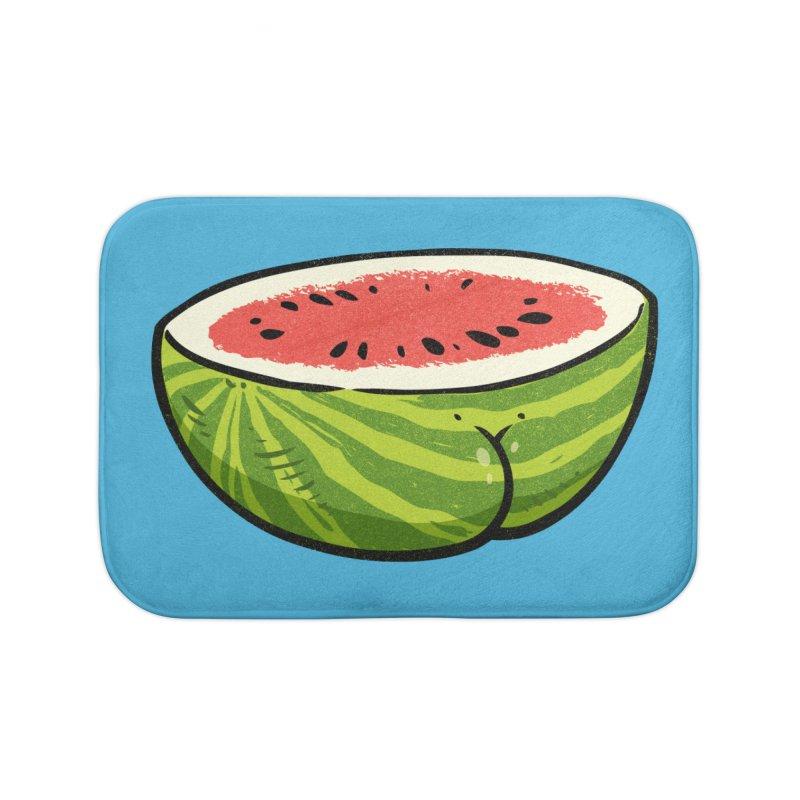 Watermelon Butt Home Bath Mat by Brian Cook