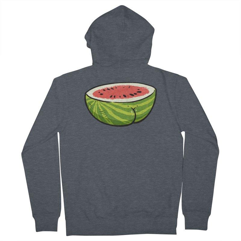 Watermelon Butt Men's Zip-Up Hoody by Brian Cook