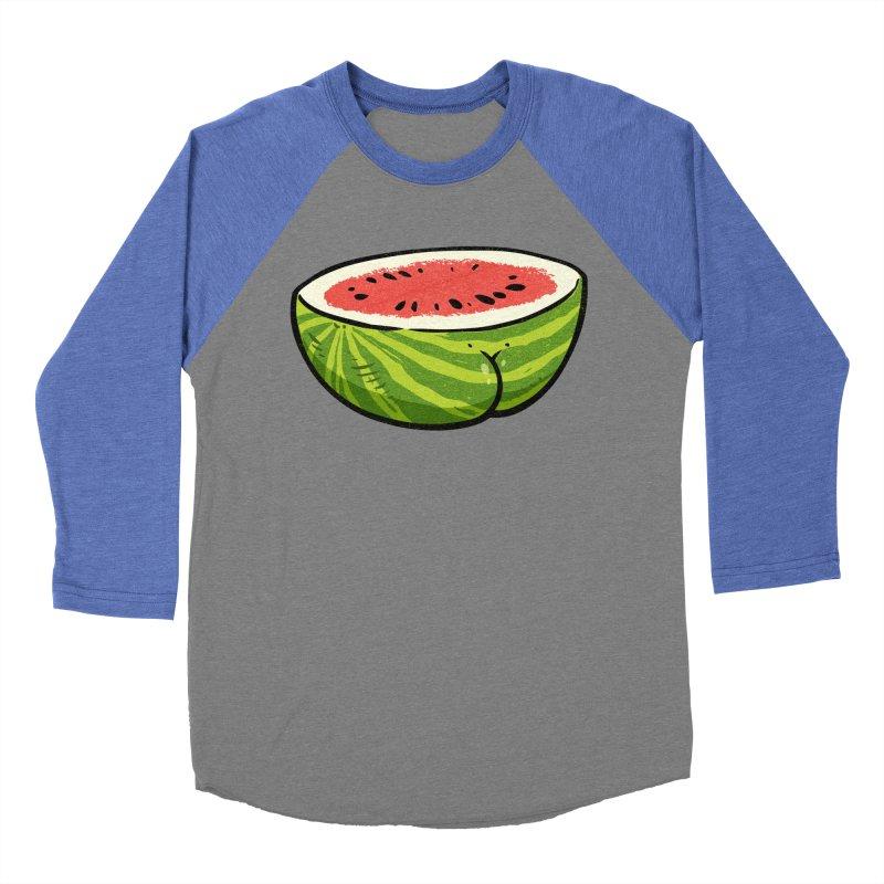 Watermelon Butt Women's Baseball Triblend T-Shirt by Brian Cook
