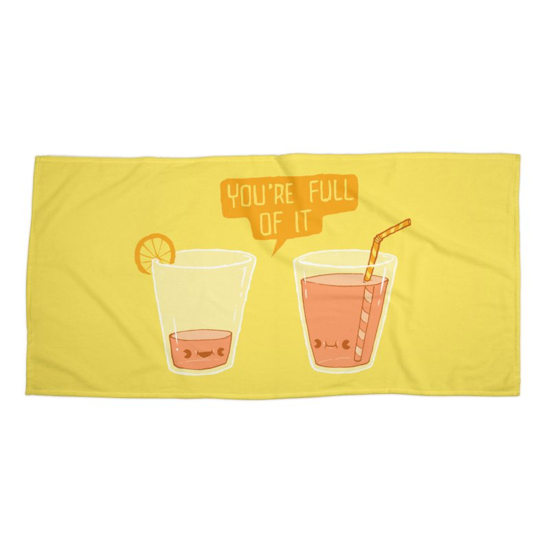 Full of It Accessories Beach Towel by Brian Cook