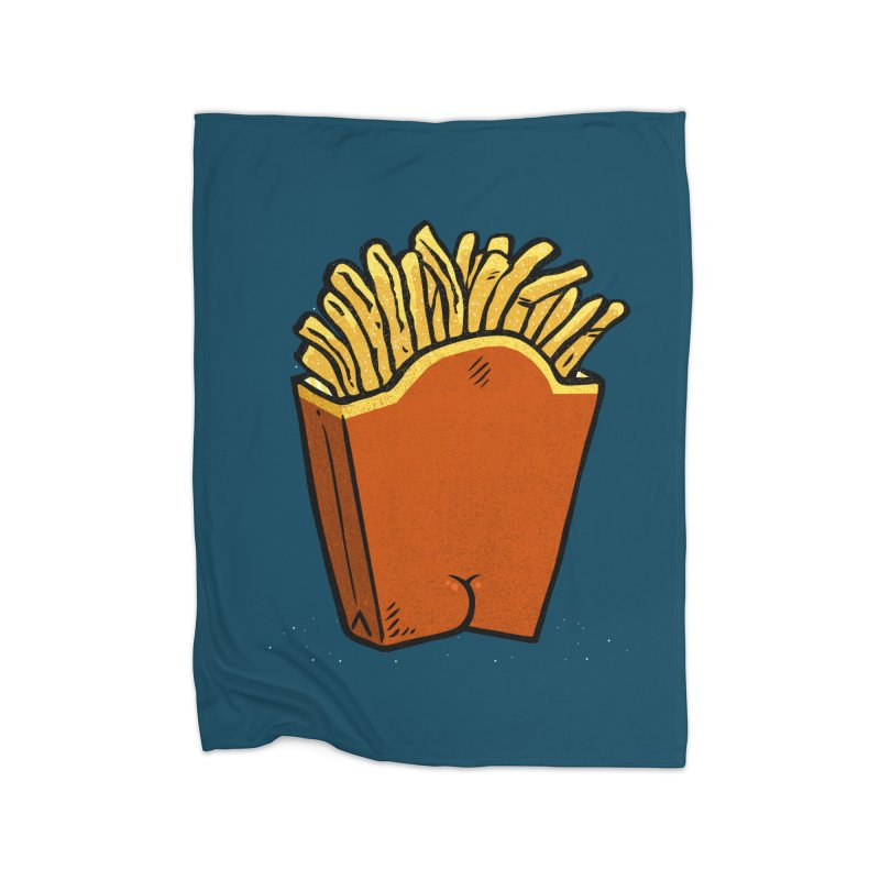 Fries Butt Home Blanket by Brian Cook