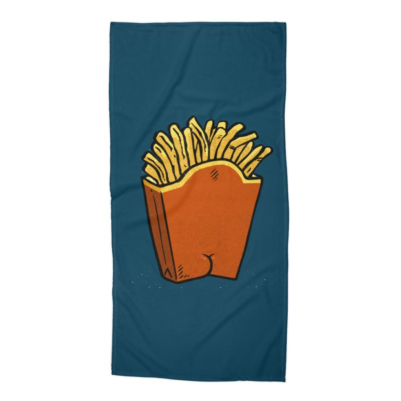 Fries Butt Accessories Beach Towel by Brian Cook