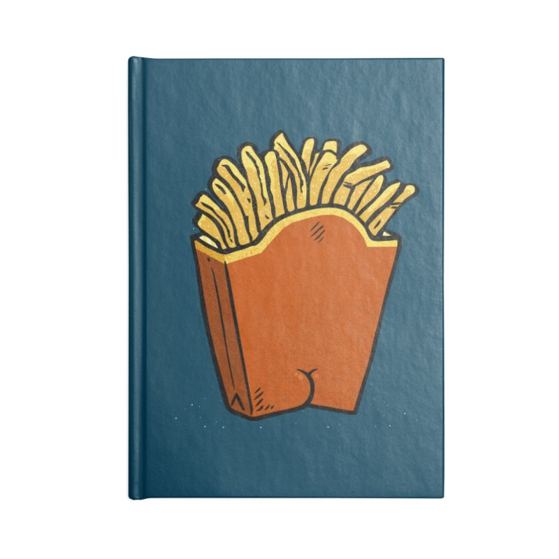 Fries Butt Accessories Notebook by Brian Cook