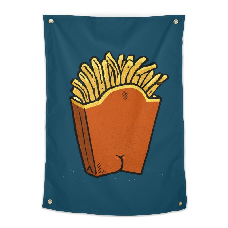 Fries Butt Home Tapestry by Brian Cook