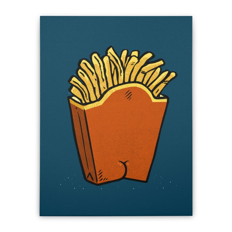 Fries Butt Home Stretched Canvas by Brian Cook
