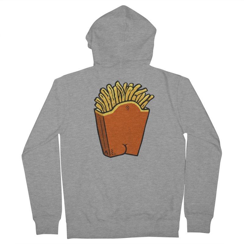 Fries Butt Men's Zip-Up Hoody by Brian Cook