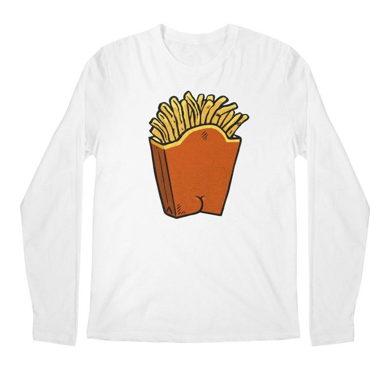 Fries Butt Men's Longsleeve T-Shirt by Brian Cook