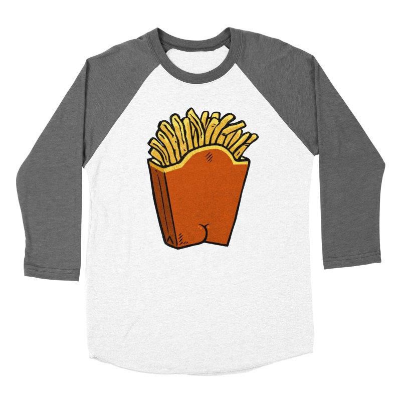 Fries Butt Women's Baseball Triblend T-Shirt by Brian Cook