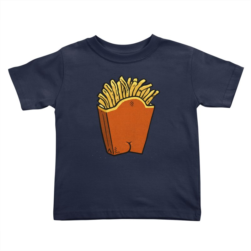 Fries Butt Kids Toddler T-Shirt by Brian Cook
