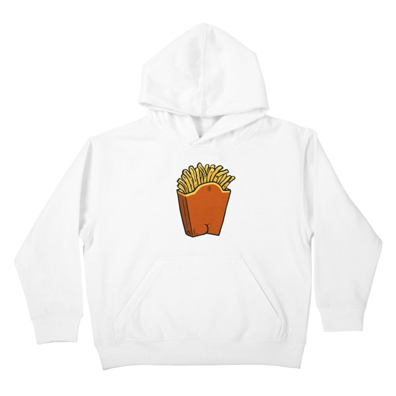 Fries Butt Kids Pullover Hoody by Brian Cook