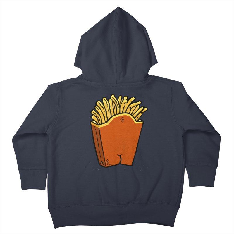 Fries Butt Kids Toddler Zip-Up Hoody by Brian Cook