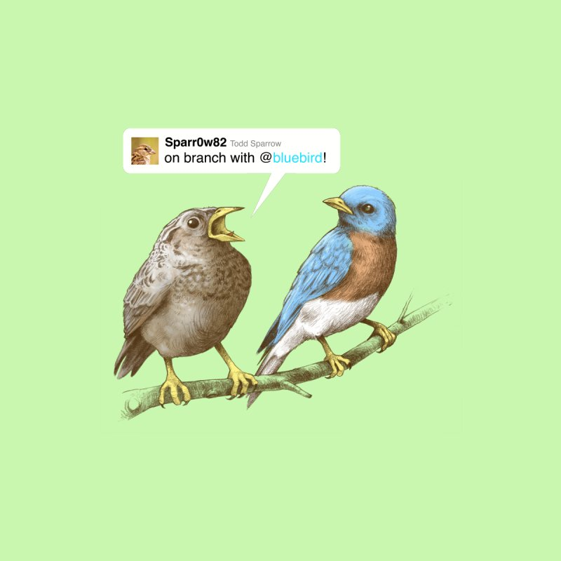 Tweet Home Tapestry by Brian Cook