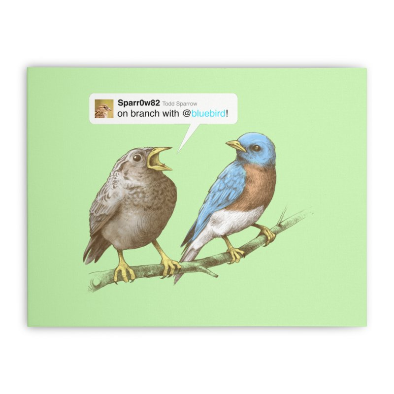 Tweet Home Stretched Canvas by Brian Cook