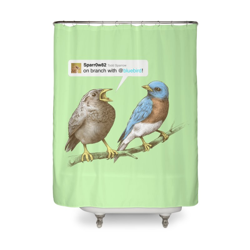 Tweet Home Shower Curtain by Brian Cook