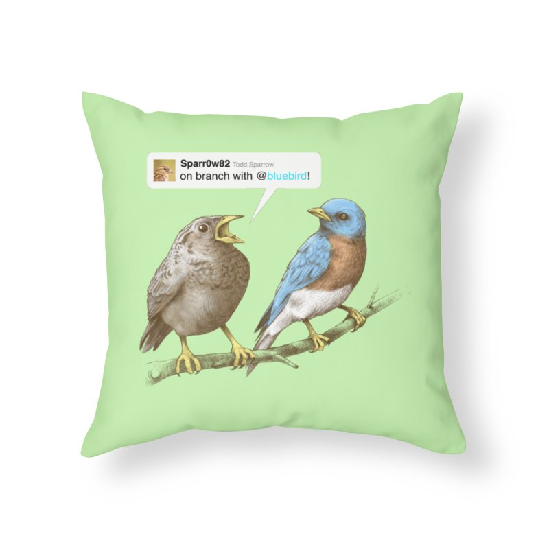 Tweet Home Throw Pillow by Brian Cook