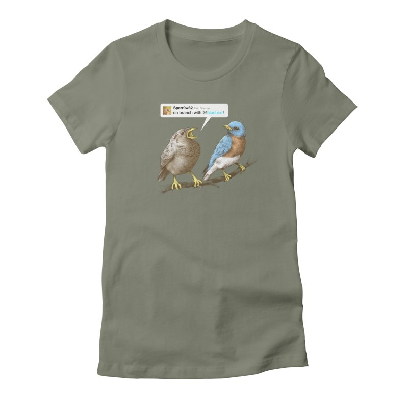 Tweet Women's Fitted T-Shirt by Brian Cook