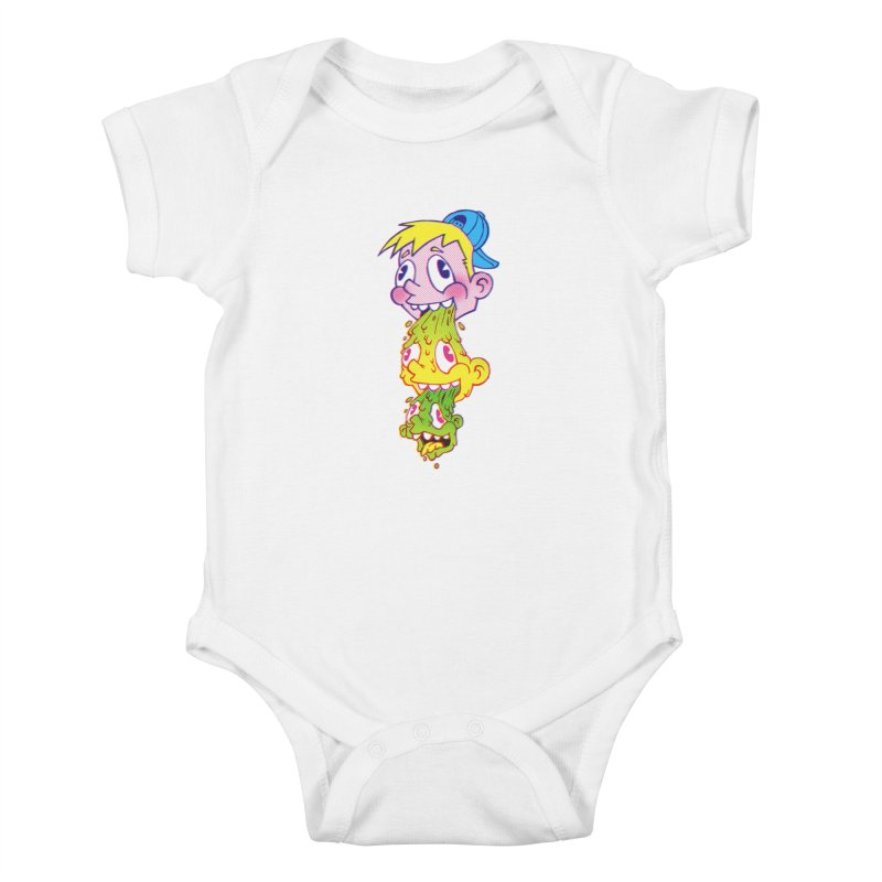 PukeFace Kids Baby Bodysuit by Brian Cook