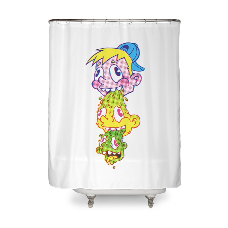 PukeFace Home Shower Curtain by Brian Cook