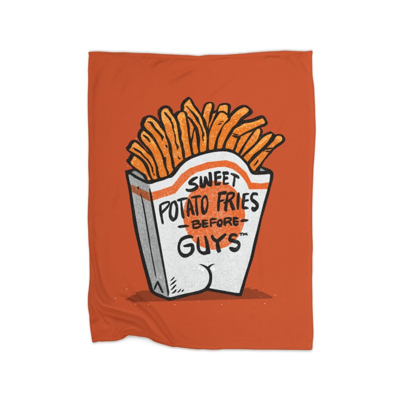 Sweet Potato Fries Before Guys Home Blanket by Brian Cook