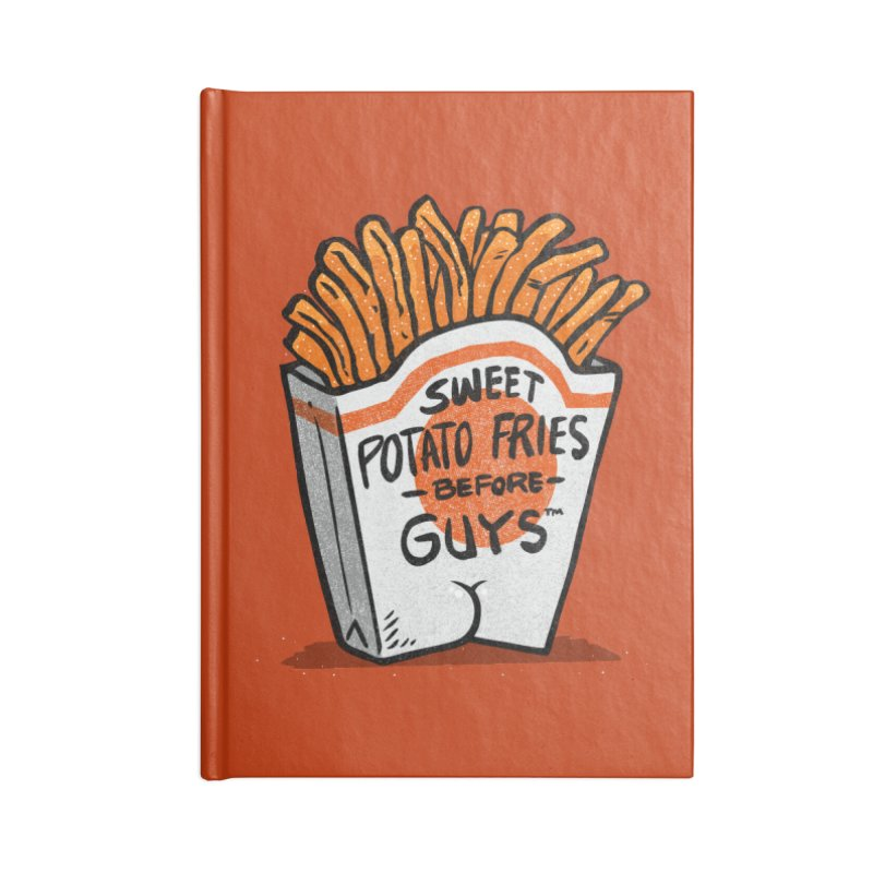 Sweet Potato Fries Before Guys Accessories Notebook by Brian Cook