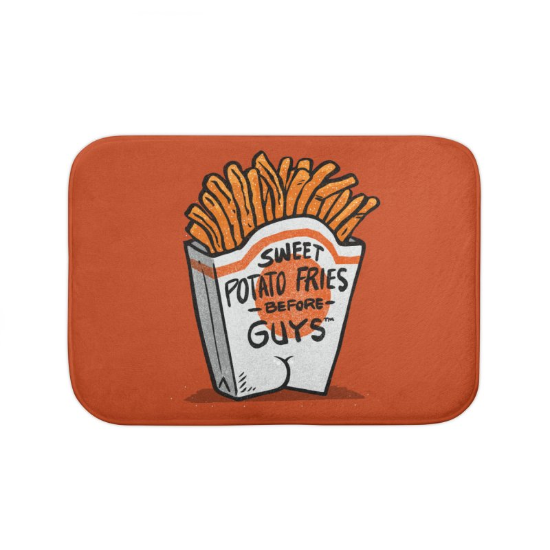 Sweet Potato Fries Before Guys Home Bath Mat by Brian Cook