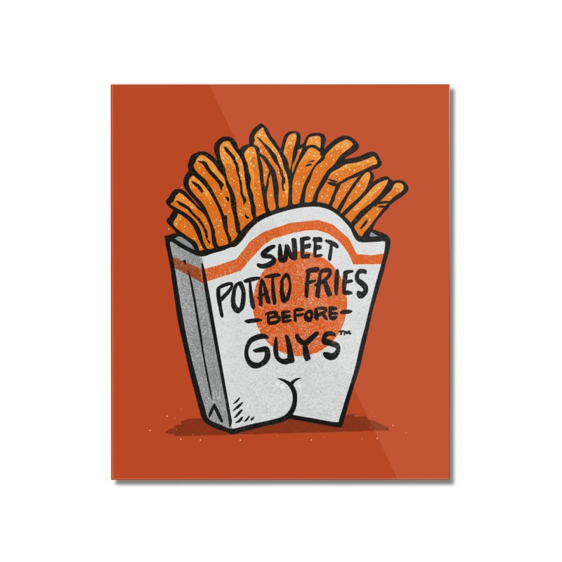 Sweet Potato Fries Before Guys Home Mounted Acrylic Print by Brian Cook