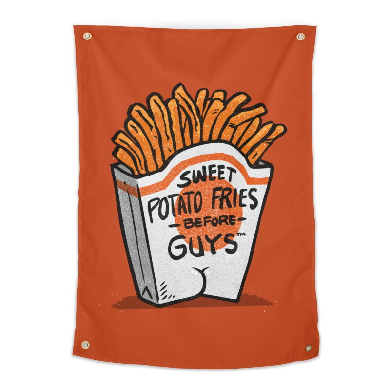 Sweet Potato Fries Before Guys Home Tapestry by Brian Cook