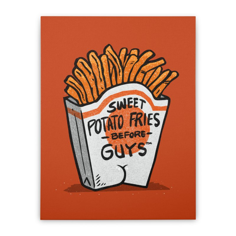 Sweet Potato Fries Before Guys Home Stretched Canvas by Brian Cook