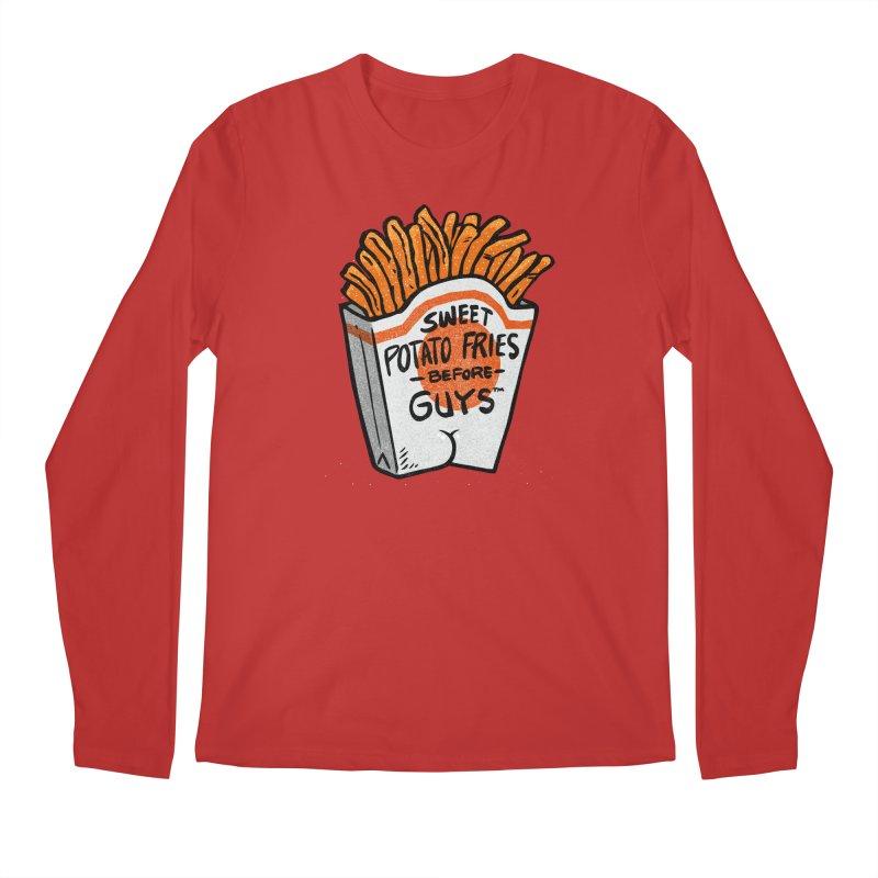 Sweet Potato Fries Before Guys Men's Longsleeve T-Shirt by Brian Cook