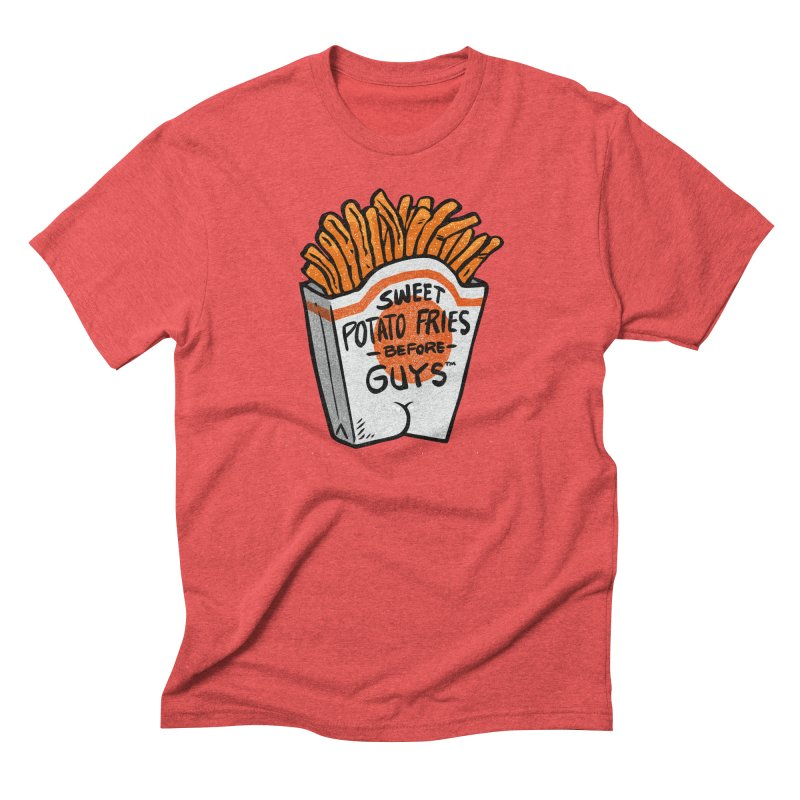 Sweet Potato Fries Before Guys Men's Triblend T-Shirt by Brian Cook
