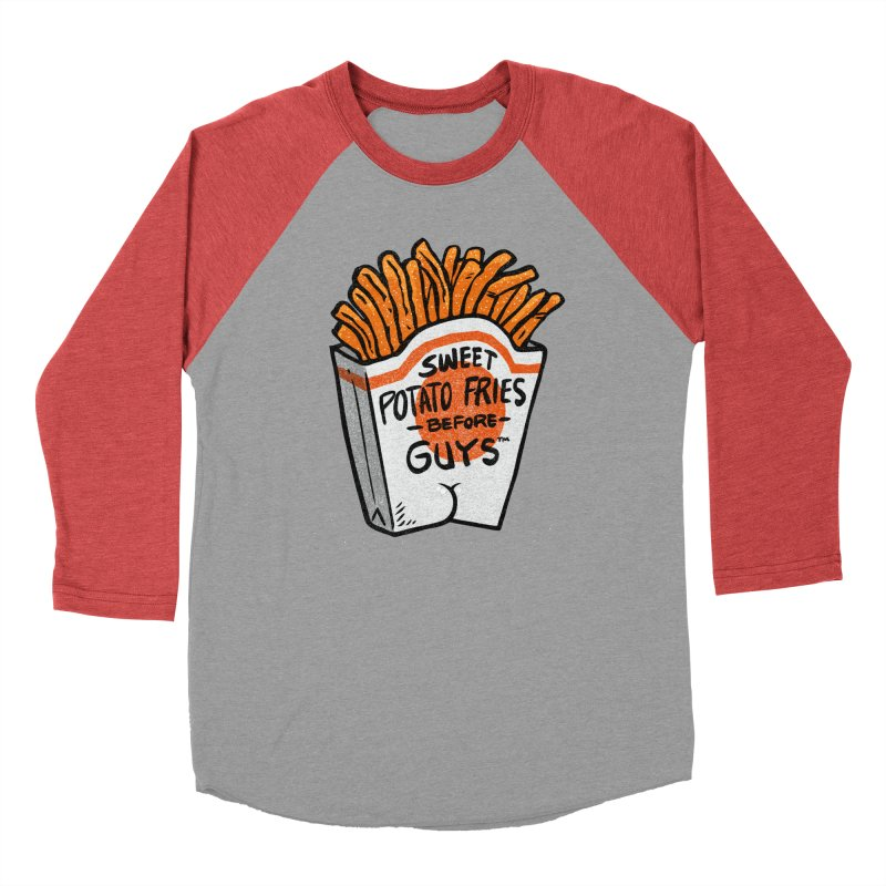 Sweet Potato Fries Before Guys Men's Baseball Triblend T-Shirt by Brian Cook