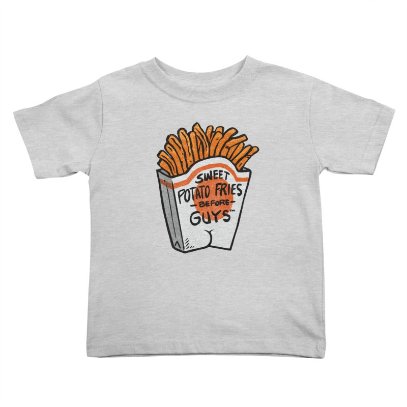 Sweet Potato Fries Before Guys Kids Toddler T-Shirt by Brian Cook