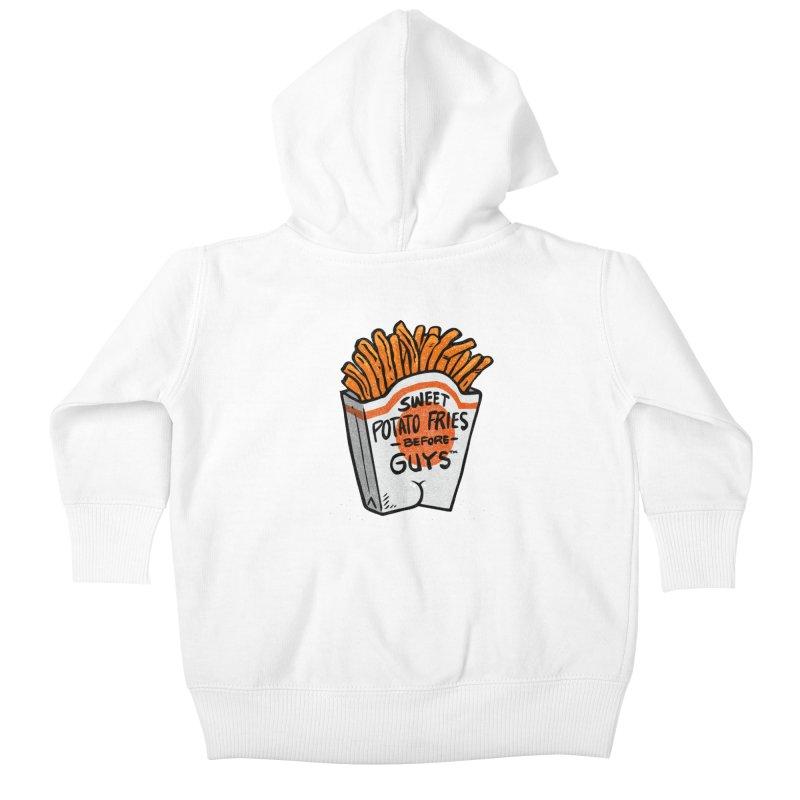 Sweet Potato Fries Before Guys Kids Baby Zip-Up Hoody by Brian Cook