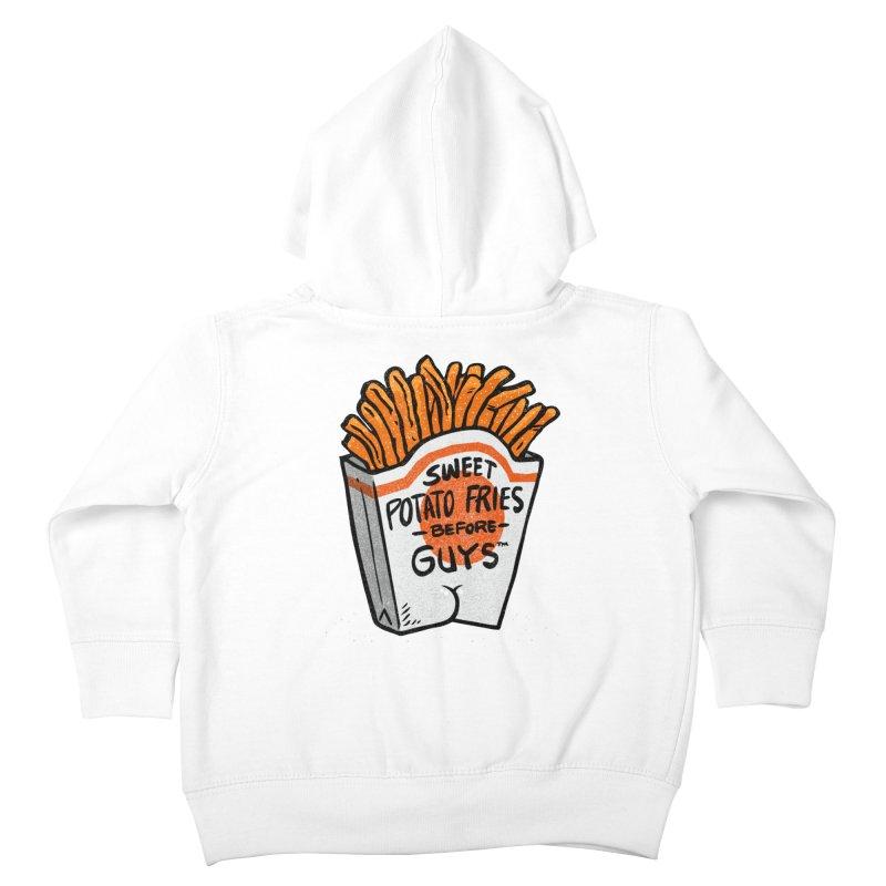 Sweet Potato Fries Before Guys Kids Toddler Zip-Up Hoody by Brian Cook