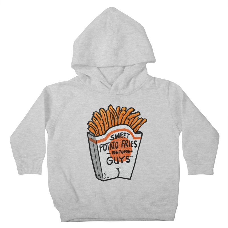 Sweet Potato Fries Before Guys Kids Toddler Pullover Hoody by Brian Cook