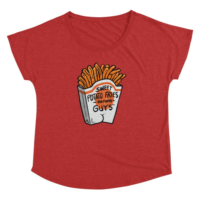 Sweet Potato Fries Before Guys Women's Dolman by Brian Cook