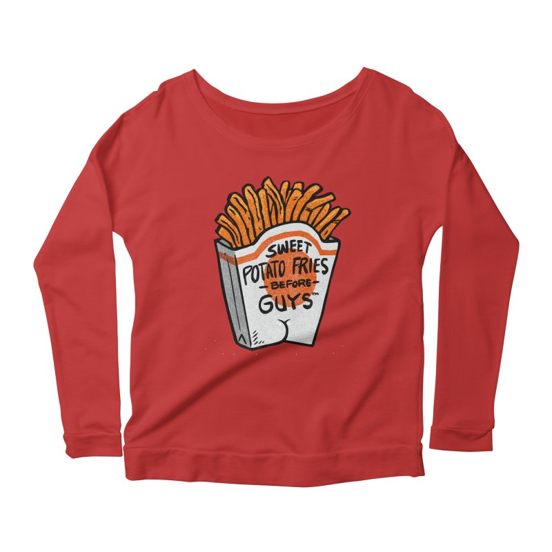 Sweet Potato Fries Before Guys Women's Longsleeve Scoopneck  by Brian Cook