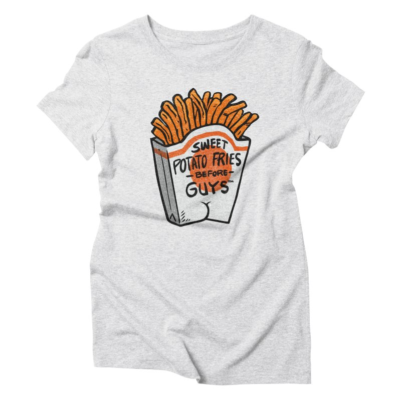 Sweet Potato Fries Before Guys Women's Triblend T-Shirt by Brian Cook