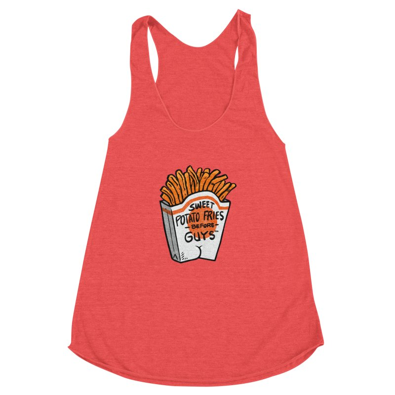 Sweet Potato Fries Before Guys Women's Racerback Triblend Tank by Brian Cook