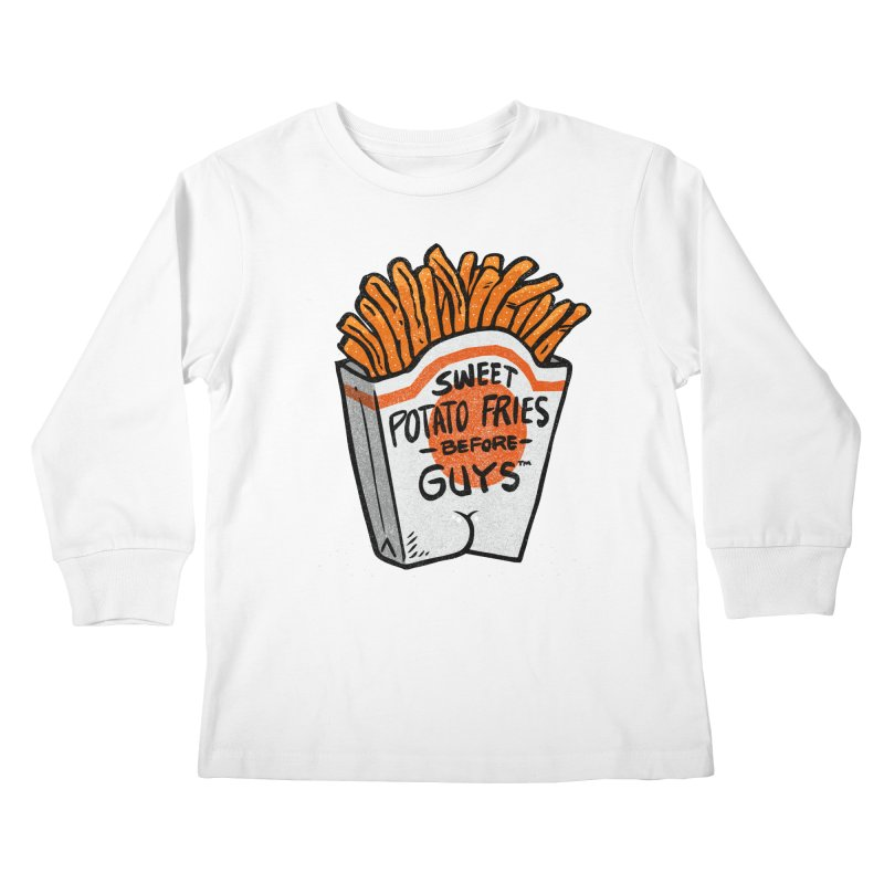 Sweet Potato Fries Before Guys Kids Longsleeve T-Shirt by Brian Cook