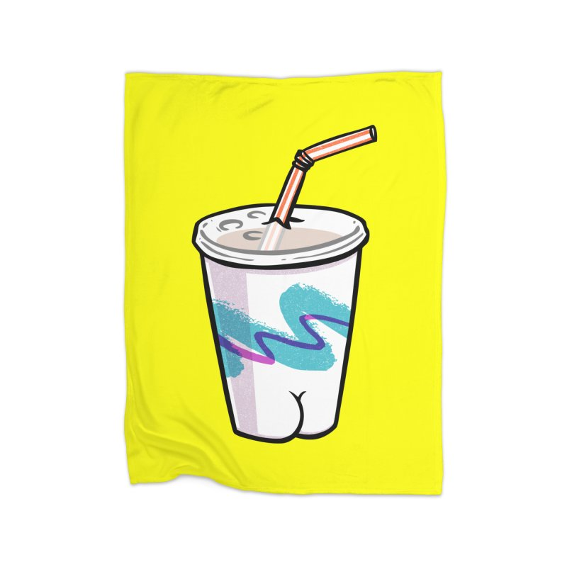 Soda Cup Butt Home Blanket by Brian Cook
